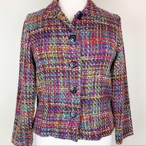 Coldwater Creek   Tweed Multi Color Blazer